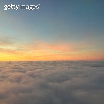 Sunrise over the clouds - gettyimageskorea