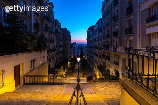 Empty steps of Montmartre in Paris, France - gettyimageskorea