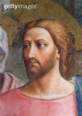 The Tribute Money: Christ's Head/ detail/ c.1427 (fresco) - gettyimageskorea