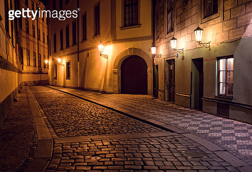 Prague At Night - gettyimageskorea