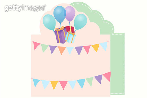 Happy Birthday - colourful card with balloons - gettyimageskorea