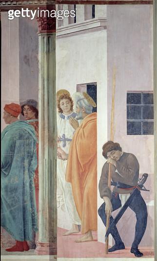 <b>Title</b> : St. Peter Freed from Jail, c.1480 (fresco)<br><b>Medium</b> : <br><b>Location</b> : Brancacci Chapel, Santa Maria del Carmine, Florence, Italy<br> - gettyimageskorea