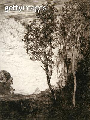 <b>Title</b> : Souvenir of Italy, 1866 (etching on laid paper)<br><b>Medium</b> : etching on laid paper<br><b>Location</b> : Brooklyn Museum of Art, New York, USA<br> - gettyimageskorea