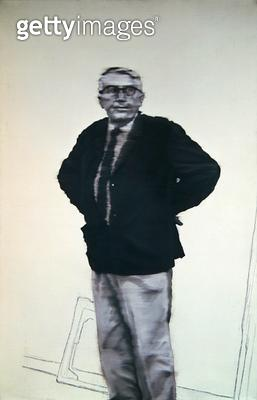 <b>Title</b> : Portrait of Arnold Bode (1900-77) 1964 (oil on canvas)Additional InfoPortraet;<br><b>Medium</b> : oil on canvas<br><b>Location</b> : Neue Galerie, Kassel, Germany<br> - gettyimageskorea