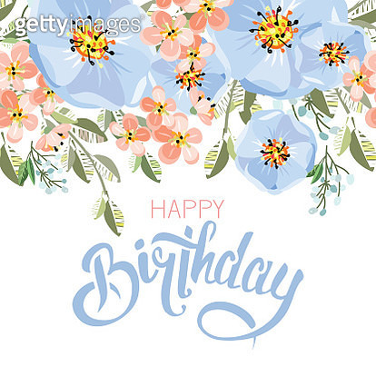 Lettering 'invitation' with flowers - gettyimageskorea