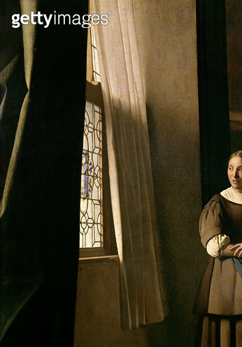 <b>Title</b> : Lady writing a letter with her Maid, c.1670 (oil on canvas) (detail 2353)<br><b>Medium</b> : oil on canvas<br><b>Location</b> : National Gallery of Ireland, Dublin, Ireland<br> - gettyimageskorea