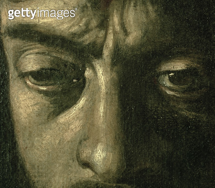 <b>Title</b> : David with the Head of Goliath, 1606 (oil on canvas) (detail of 100350)<br><b>Medium</b> : <br><b>Location</b> : Galleria Borghese, Rome, Italy<br> - gettyimageskorea