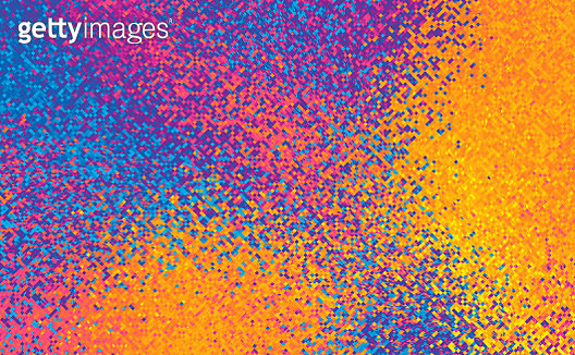Abstract Ыmall particles Geometrical Multicolored Background - gettyimageskorea