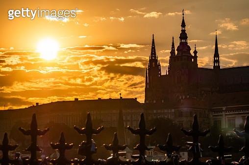Saint Vitu's Cathedral at Sunset in Prague - gettyimageskorea