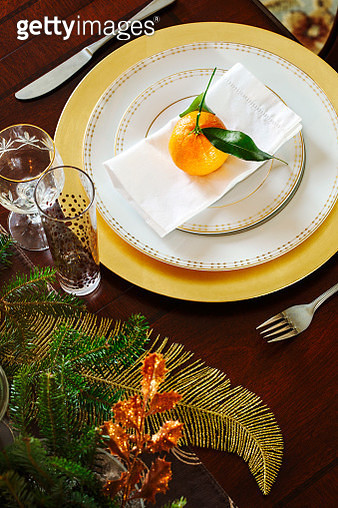 Christmas table setting - gettyimageskorea