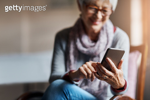 Staying smart tech savvy in her senior years - gettyimageskorea
