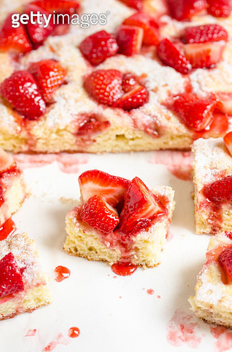 Strawberry cake pieces - gettyimageskorea