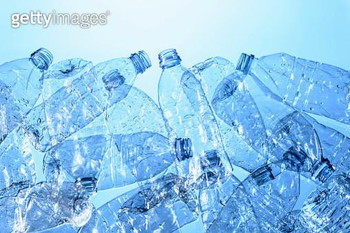 Still life of plastic bottles, source of pollution - gettyimageskorea