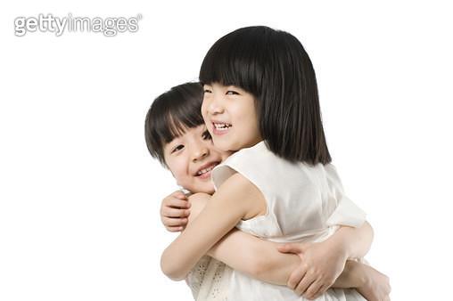 Portrait of two little girls - gettyimageskorea