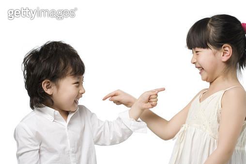 Portrait of two children - gettyimageskorea