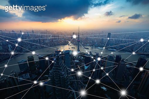 Smart city, Network & Comunication Technology concepts - gettyimageskorea