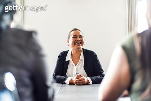 Three businesswomen in conference room - gettyimageskorea