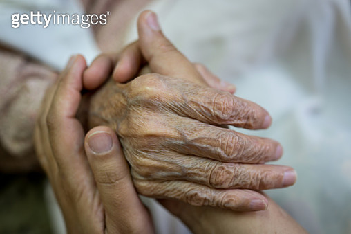 Old hands help and love - gettyimageskorea