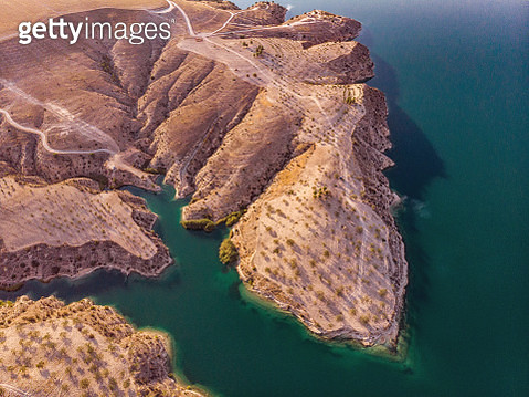 Aerial View of Amazing Natural Shapes and Textures - gettyimageskorea