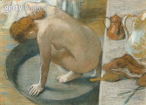 <b>Title</b> : The Tub, 1886 (pastel on card)<br><b>Medium</b> : pastel on card<br><b>Location</b> : Musee d'Orsay, Paris, France<br> - gettyimageskorea