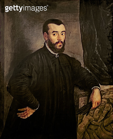 <b>Title</b> : Portrait of Andreas Vesalius (1514-64) (oil on canvas)Additional Infoshowed that Galen founded his teachings on dissections of a<br><b>Medium</b> : oil on canvas<br><b>Location</b> : Academie Nationale de Medecine, Paris, France<br> - gettyimageskorea
