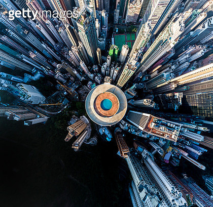 Hong Kong Island Hopewell Centre Aerial - gettyimageskorea