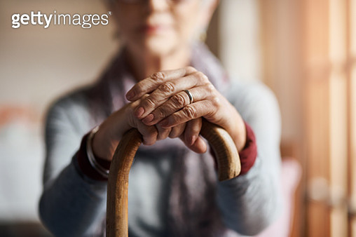 I get by with a little help from my cane - gettyimageskorea