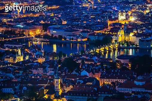 Prague Cityscape From The Petrin Tower - gettyimageskorea