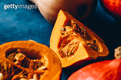 Close-up of pieces of pumpkins - gettyimageskorea