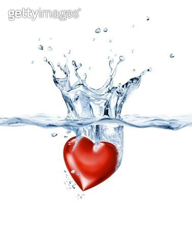 Heart in water, artwork - gettyimageskorea