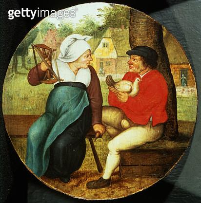 <b>Title</b> : A Flemish Proverb (panel)<br><b>Medium</b> : <br><b>Location</b> : Johnny van Haeften Gallery, London, UK<br> - gettyimageskorea