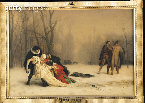 <b>Title</b> : At the End of the Masked Ball, 1867 (oil on canvas)<br><b>Medium</b> : <br><b>Location</b> : Musee Conde, Chantilly, France<br> - gettyimageskorea