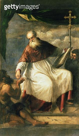 <b>Title</b> : St. John the Charitable (oil on canvas)<br><b>Medium</b> : oil on canvas<br><b>Location</b> : San Giovanni Elemosinario, Venice, Italy<br> - gettyimageskorea