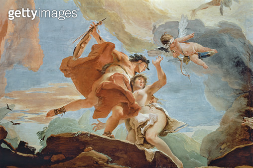 <b>Title</b> : Orpheus Rescuing Eurydice from the Underworld (detail of the ceiling) (see also 64555)<br><b>Medium</b> : <br><b>Location</b> : Palazzo Sandi-Porto (Cipollato), Venice, Italy<br> - gettyimageskorea