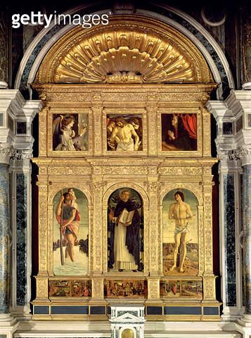 <b>Title</b> : St. Vincent Ferrer Altarpiece, c.1465 (polyptych)<br><b>Medium</b> : <br><b>Location</b> : San Giovanni e Paolo, Venice, Italy<br> - gettyimageskorea