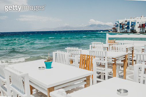 greek tavern in little venice,Mykonos,Greece - gettyimageskorea