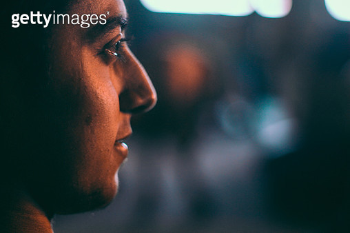 Close-Up Side View Of Young Man - gettyimageskorea