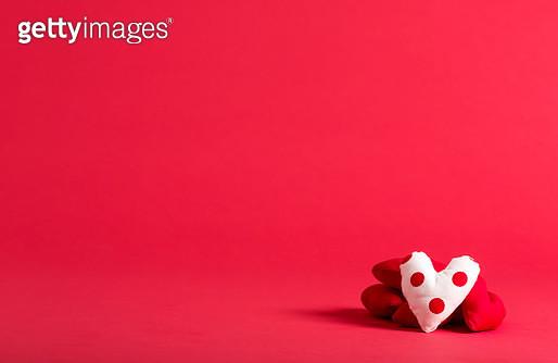 Handmade heart cushions - gettyimageskorea