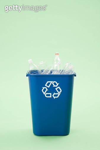 Bottles in a recycling bin - gettyimageskorea