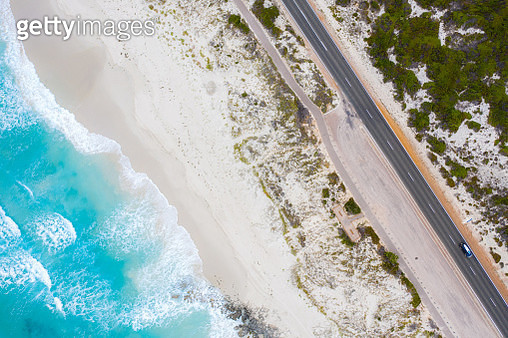 Aerial View of Great Ocean Road in Victoria, Australia - gettyimageskorea