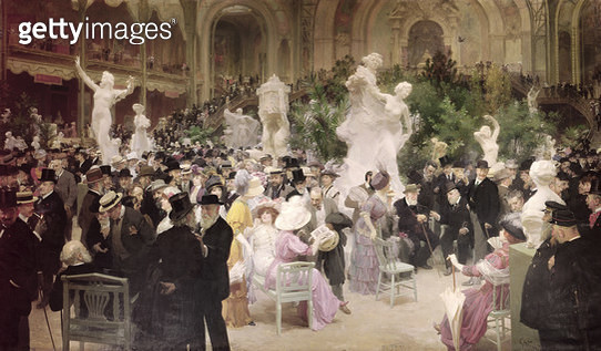<b>Title</b> : Friday at the French Artists' Salon, 1911 (oil on canvas)<br><b>Medium</b> : oil on canvas<br><b>Location</b> : Musee des Beaux-Arts, Rouen, France<br> - gettyimageskorea