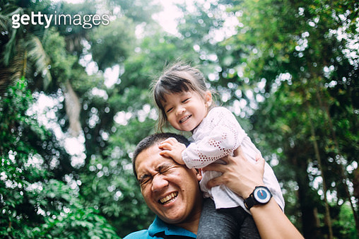 Father playing with daughter - gettyimageskorea