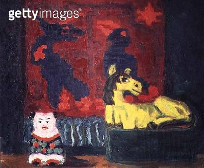 Still Life with Yellow Horse/ 1914 (oil on canvas) - gettyimageskorea