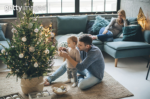 First Christmas as a family - gettyimageskorea