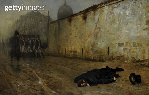 <b>Title</b> : The Execution of Marshal NeyAdditional Infoshot for treason after defeat of Napoleon;<br><b>Medium</b> : <br><b>Location</b> : Sheffield Galleries and Museums Trust, UK<br> - gettyimageskorea