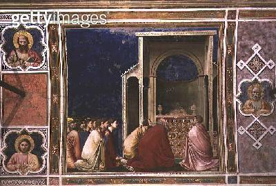 <b>Title</b> : The Virgin's Suitors Praying before the Rods in the Temple, c.1305 (fresco) (for detail see 67132)<br><b>Medium</b> : fresco<br><b>Location</b> : Scrovegni (Arena) Chapel, Padua, Italy<br> - gettyimageskorea