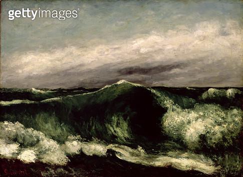 <b>Title</b> : The Wave, 1869 (oil on canvas)<br><b>Medium</b> : oil on canvas<br><b>Location</b> : Brooklyn Museum of Art, New York, USA<br> - gettyimageskorea