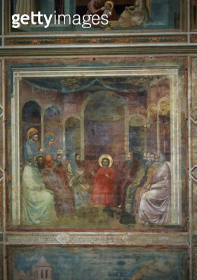 <b>Title</b> : Christ Among the Doctors, c.1305 (fresco)<br><b>Medium</b> : <br><b>Location</b> : Scrovegni (Arena) Chapel, Padua, Italy<br> - gettyimageskorea
