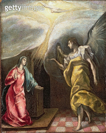 <b>Title</b> : Annunciation (oil on canvas)<br><b>Medium</b> : oil on canvas<br><b>Location</b> : The Barnes Foundation, Merion, Pennsylvania, USA<br> - gettyimageskorea