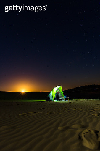 Camping on the moon - gettyimageskorea
